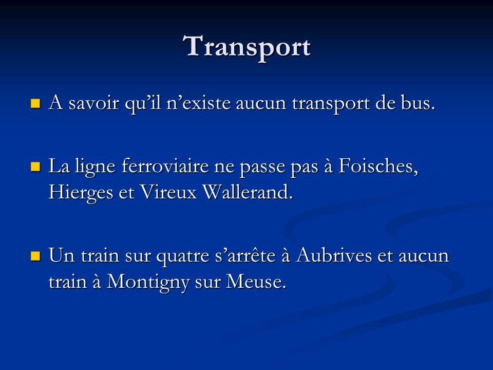 Transport A savoir qu'il n'existe aucun transport de bus.