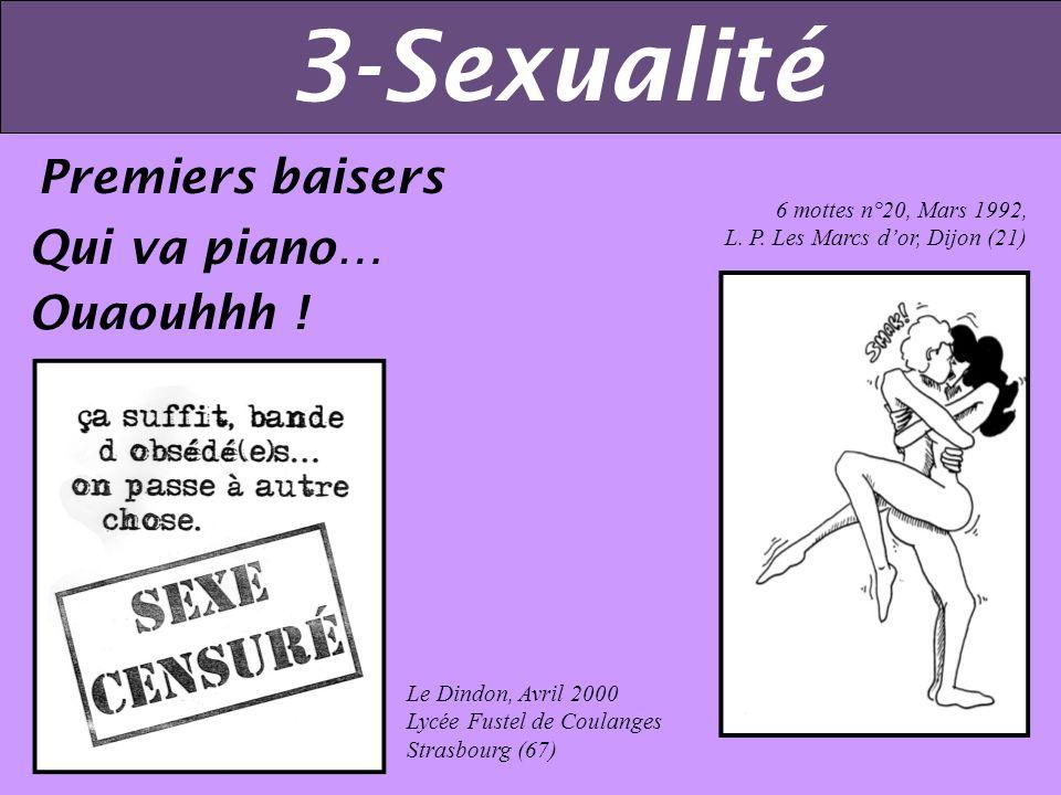 3-Sexualité Premiers baisers Qui va piano… Ouaouhhh !