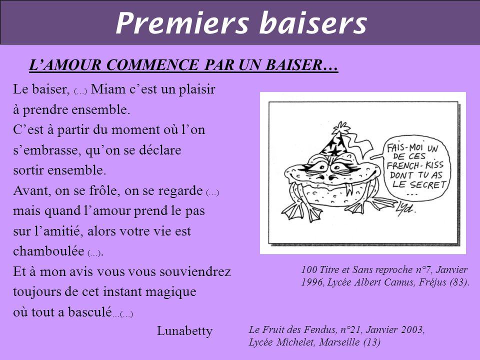 Premiers baisers L'AMOUR COMMENCE PAR UN BAISER…