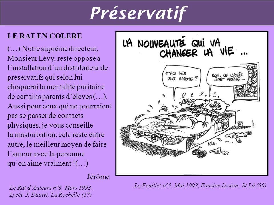 Préservatif LE RAT EN COLERE
