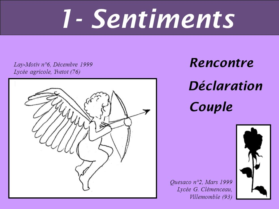 1- Sentiments Rencontre Déclaration Couple