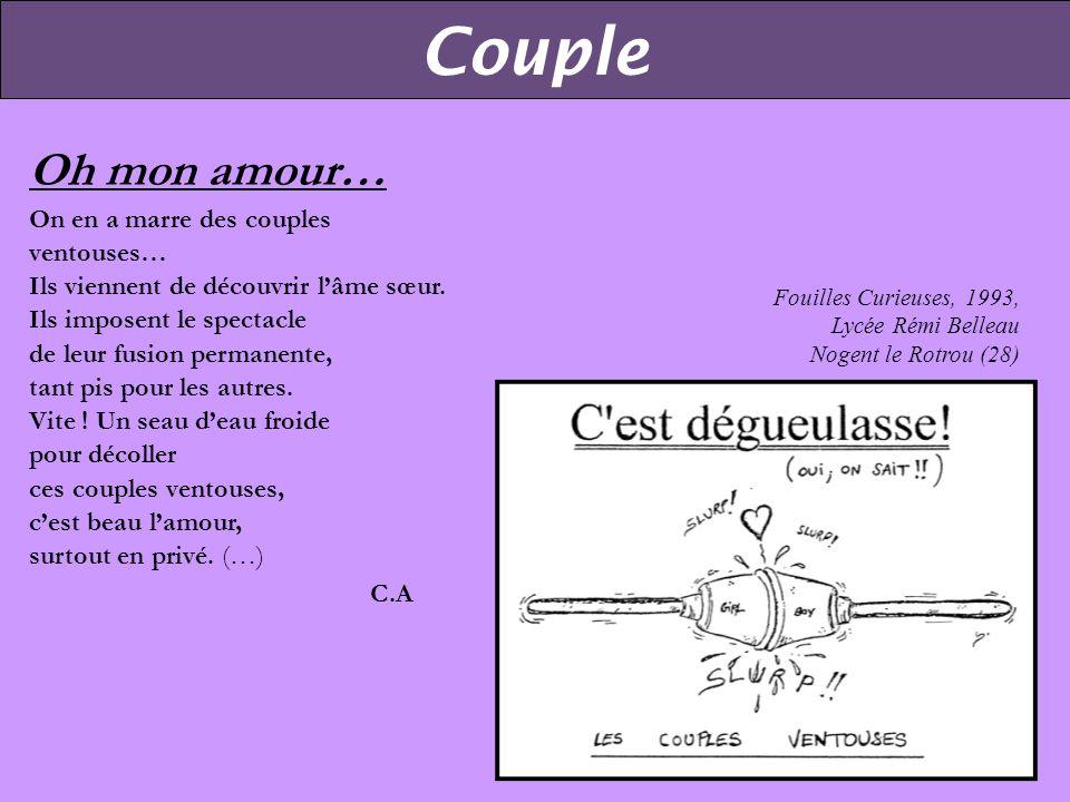Couple Oh mon amour… On en a marre des couples ventouses…