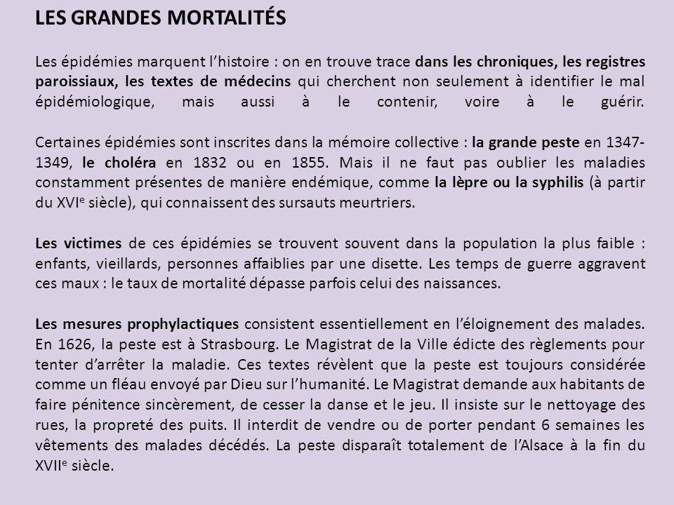 LES GRANDES MORTALITÉS