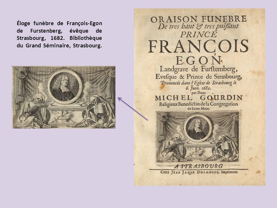 Éloge funèbre de François-Egon de Furstenberg, évêque de Strasbourg, 1682.