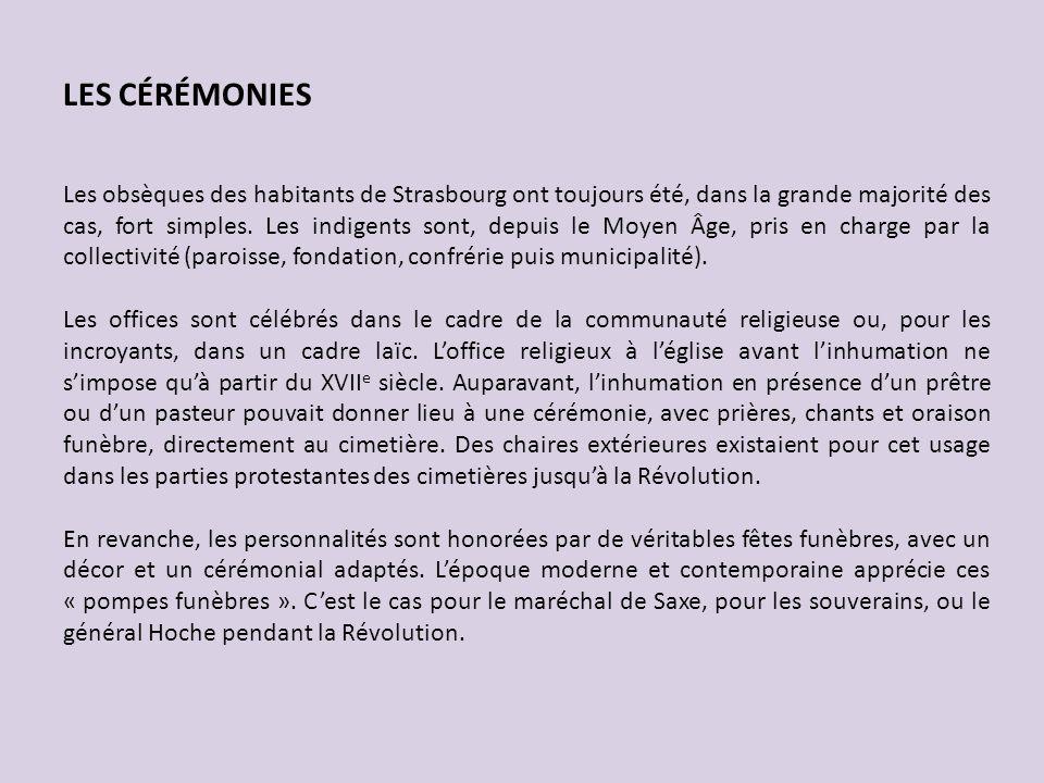 LES CÉRÉMONIES