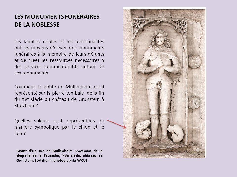 LES MONUMENTS FUNÉRAIRES DE LA NOBLESSE