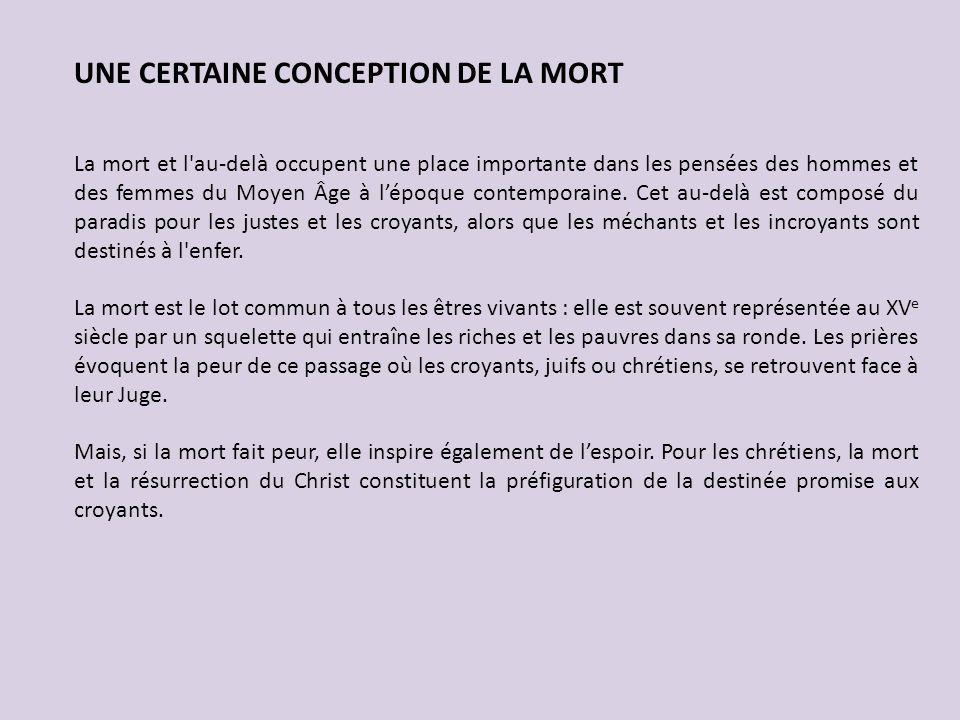 UNE CERTAINE CONCEPTION DE LA MORT