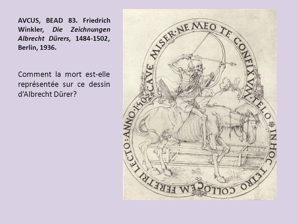 Comment la mort est-elle représentée sur ce dessin d'Albrecht Dürer