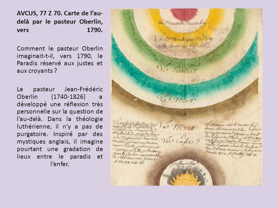 AVCUS, 77 Z 70. Carte de l'au-delà par le pasteur Oberlin, vers 1790.