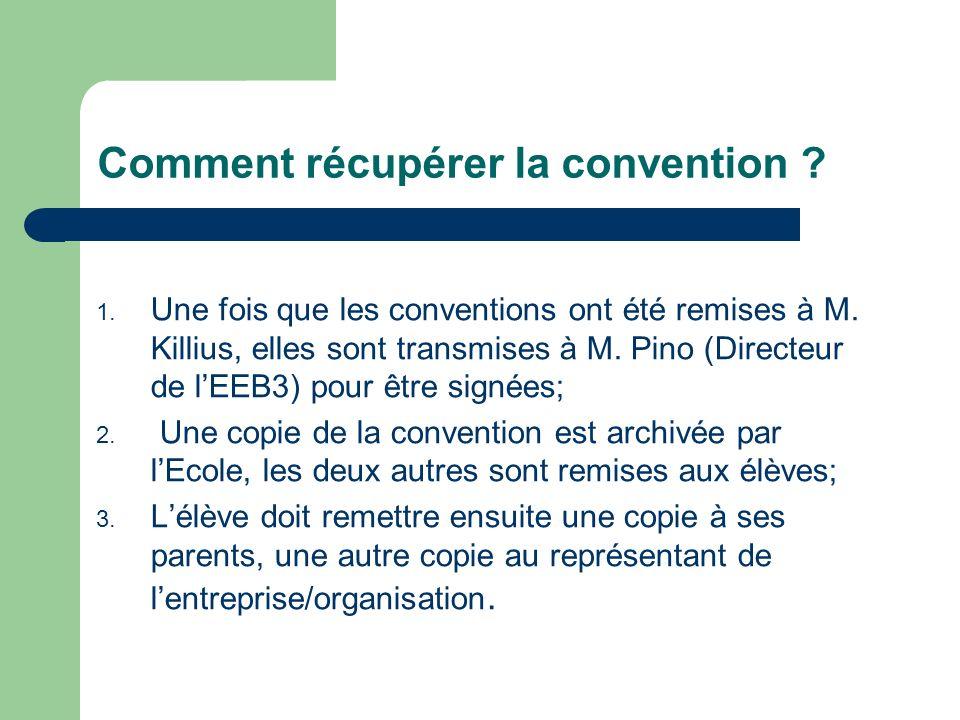 Comment récupérer la convention