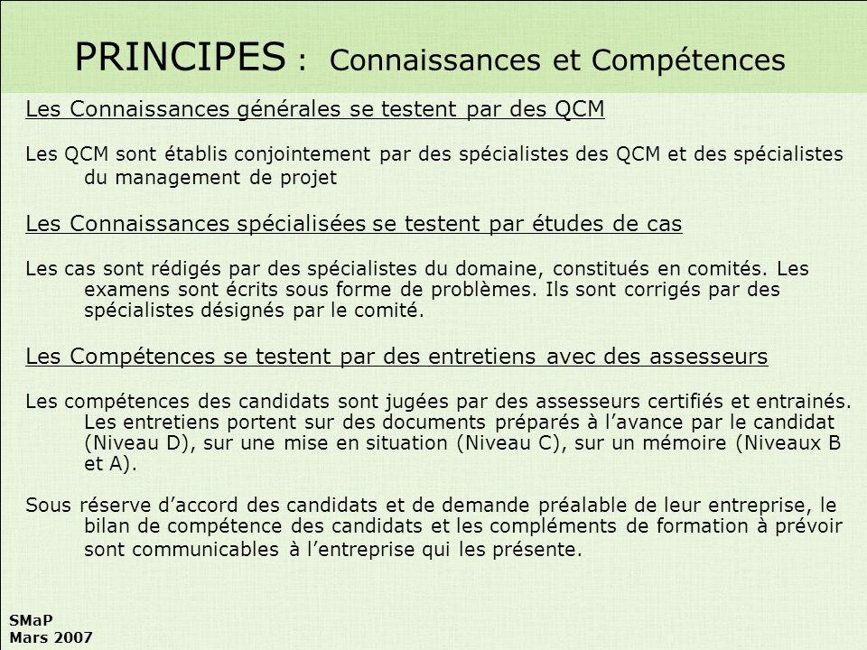 PRINCIPES : Connaissances et Compétences