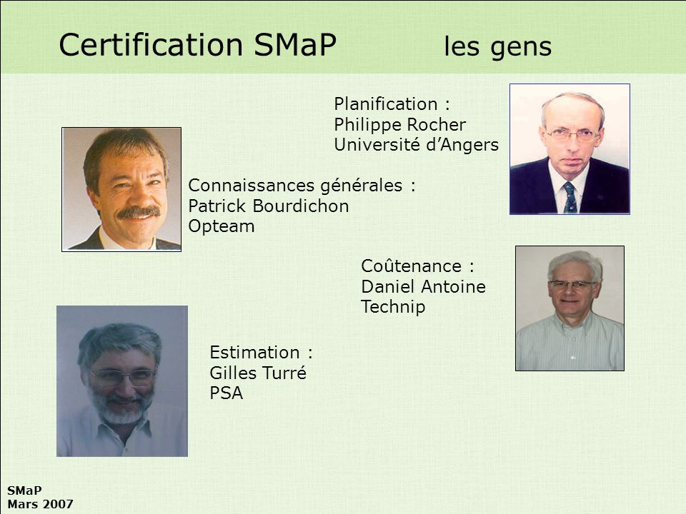 Certification SMaP les gens