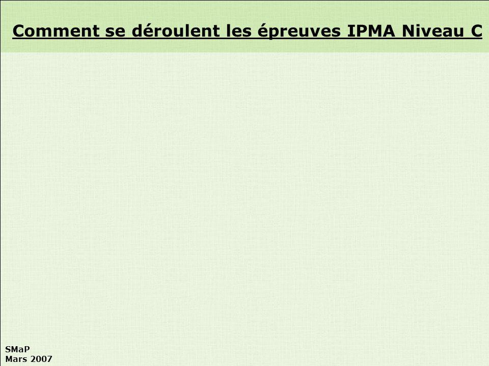 Comment se déroulent les épreuves IPMA Niveau C