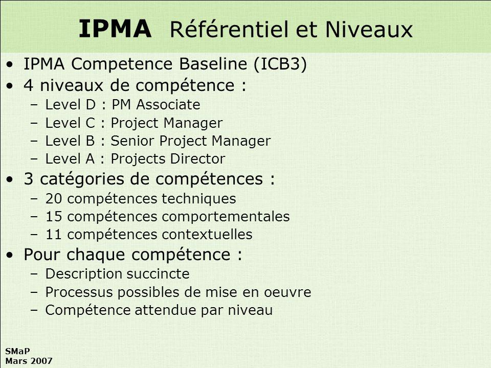 IPMA Référentiel et Niveaux