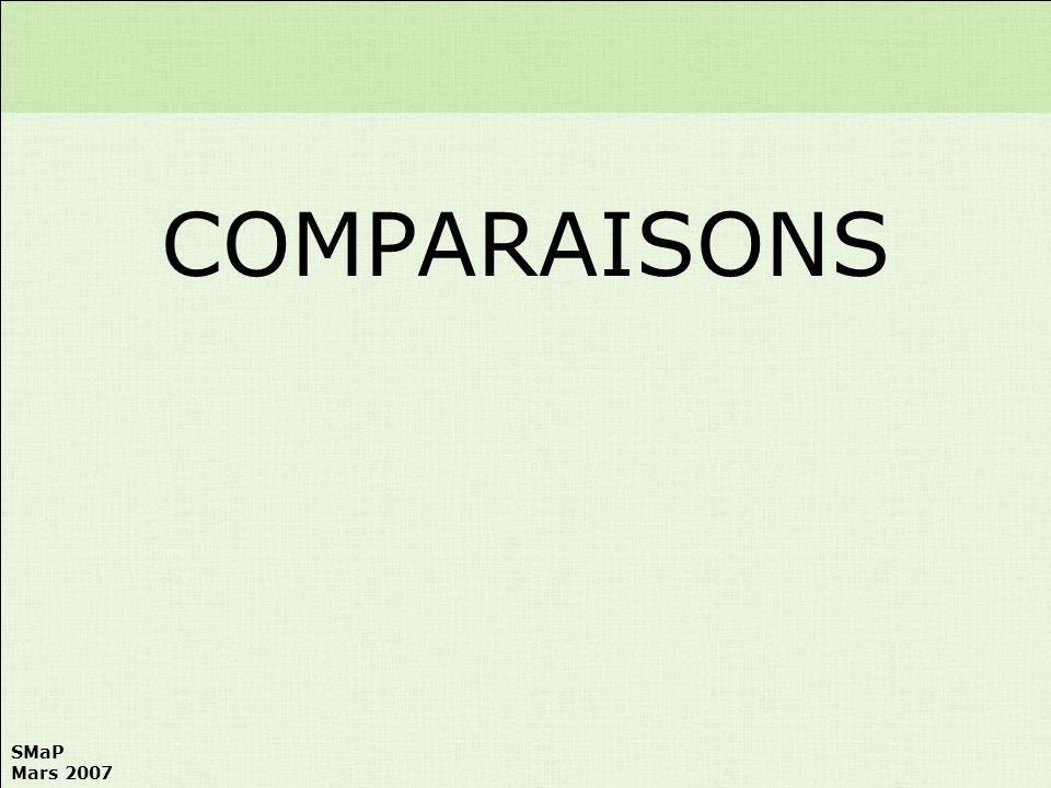 COMPARAISONS
