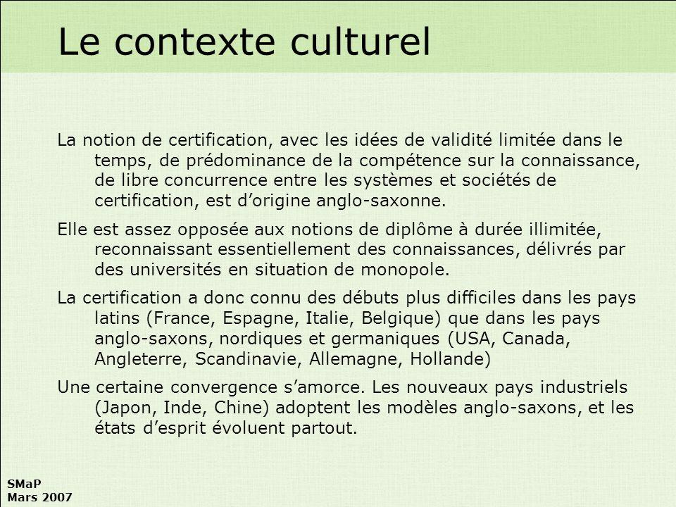 Le contexte culturel
