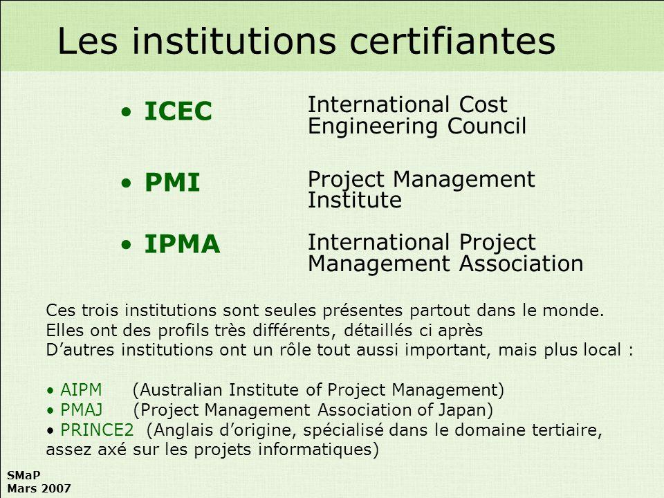 Les institutions certifiantes