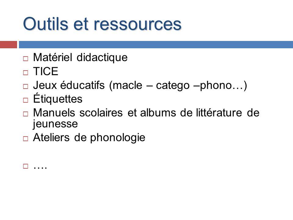 Outils et ressources Matériel didactique TICE