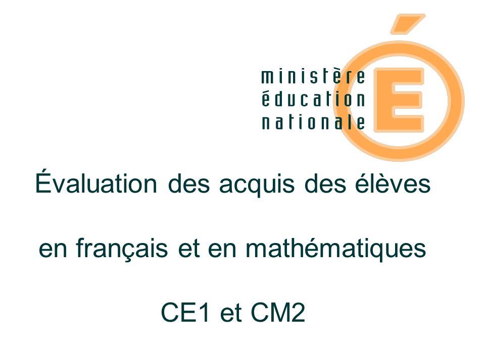Évaluation des acquis des élèves en français et en mathématiques