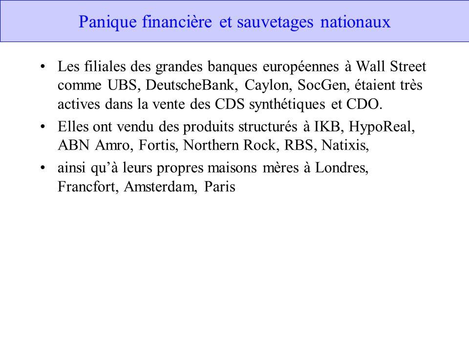 Panique financière et sauvetages nationaux
