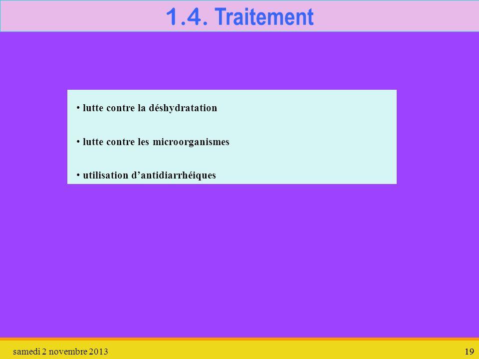 1.4. Traitement lutte contre la déshydratation