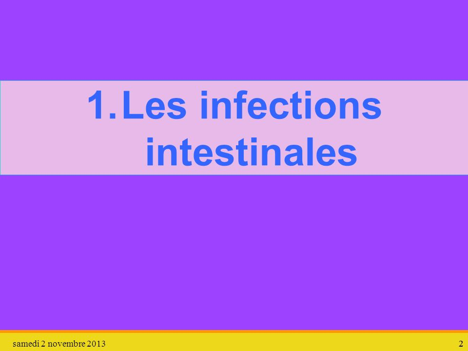 Les infections intestinales