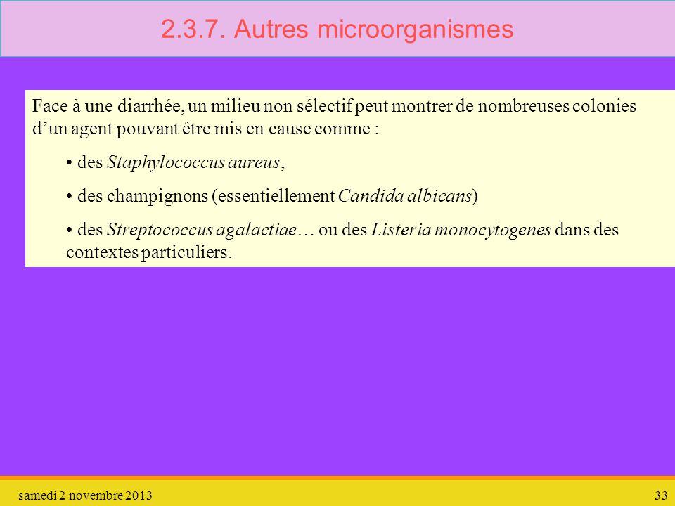 2.3.7. Autres microorganismes