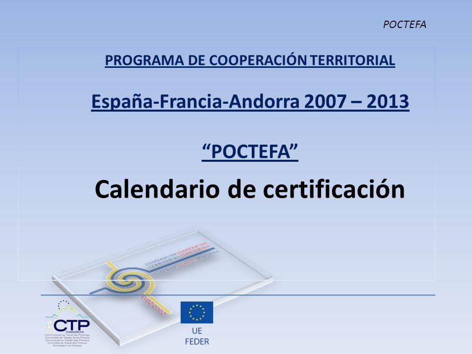 Calendario de certificación