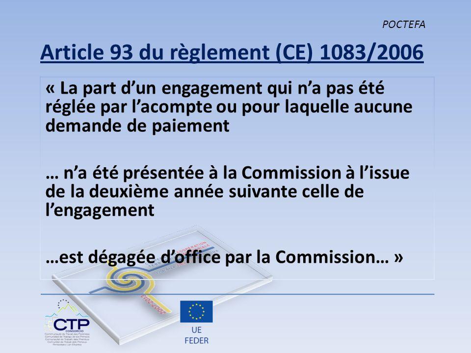 Article 93 du règlement (CE) 1083/2006