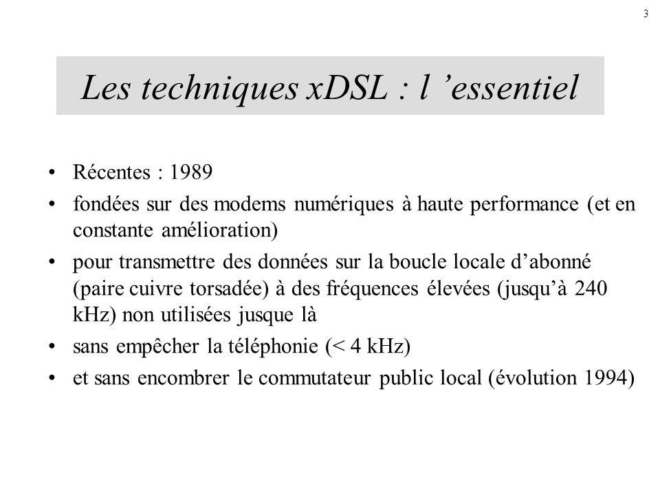 Les techniques xDSL : l 'essentiel