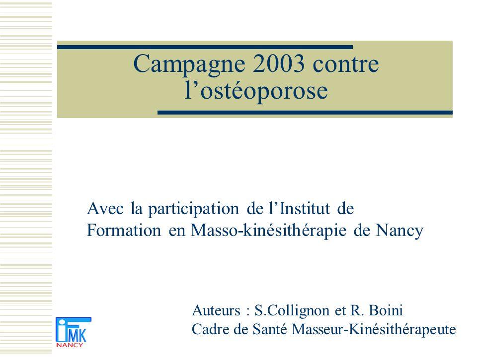 Campagne 2003 contre l'ostéoporose