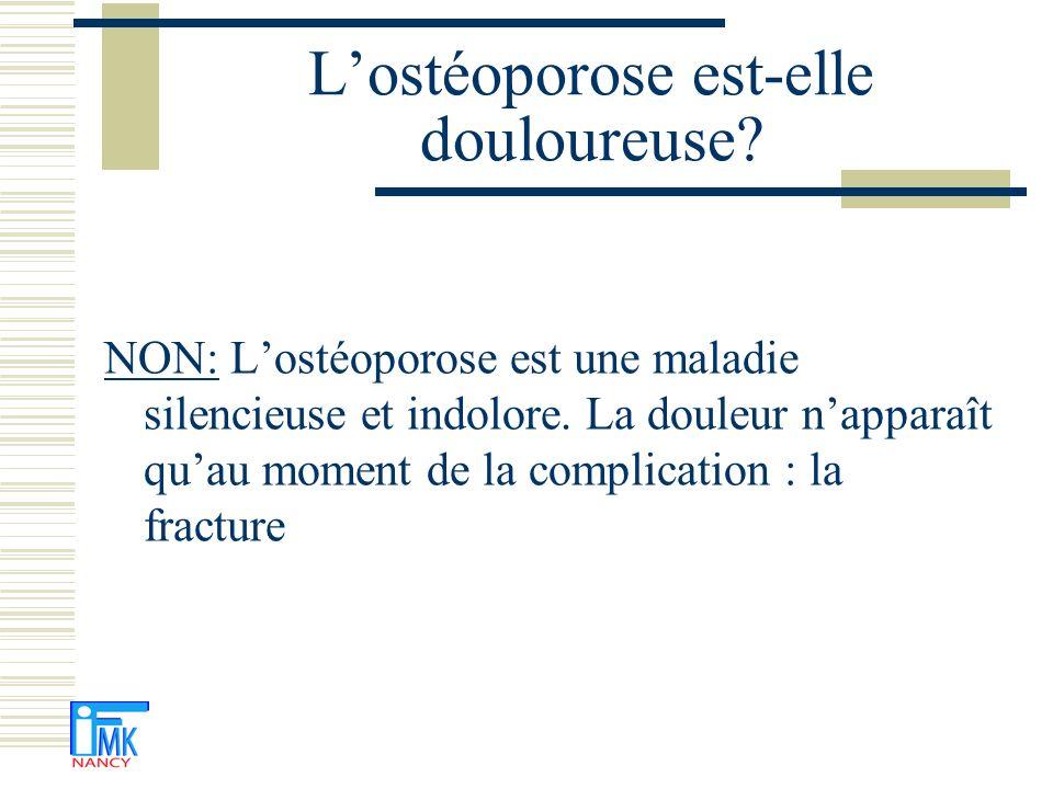 L'ostéoporose est-elle douloureuse
