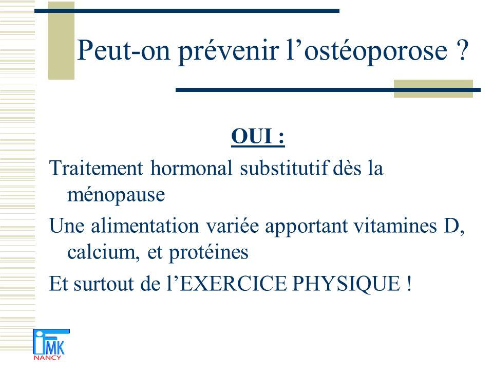 Peut-on prévenir l'ostéoporose