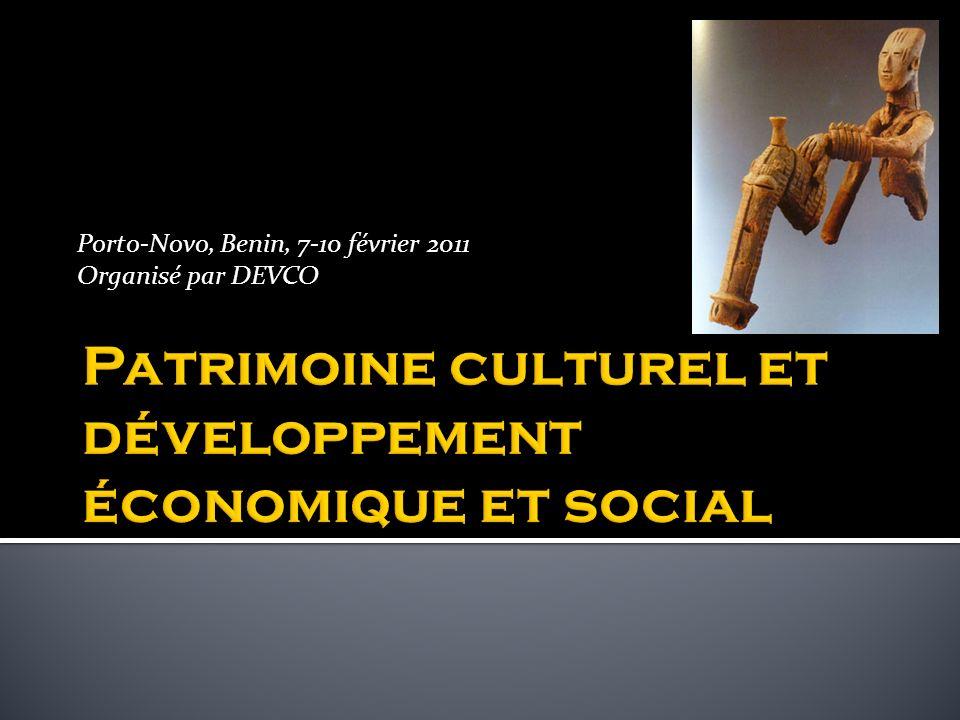 Patrimoine culturel et développement économique et social