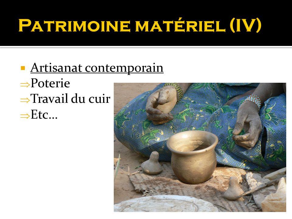 Patrimoine matériel (IV)