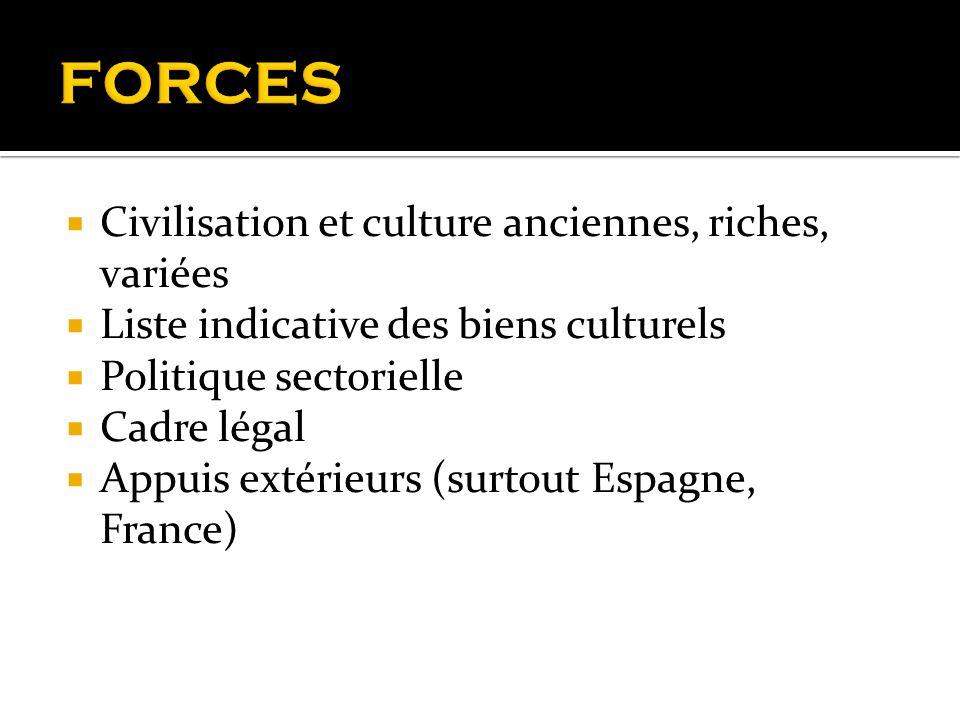 FORCES Civilisation et culture anciennes, riches, variées