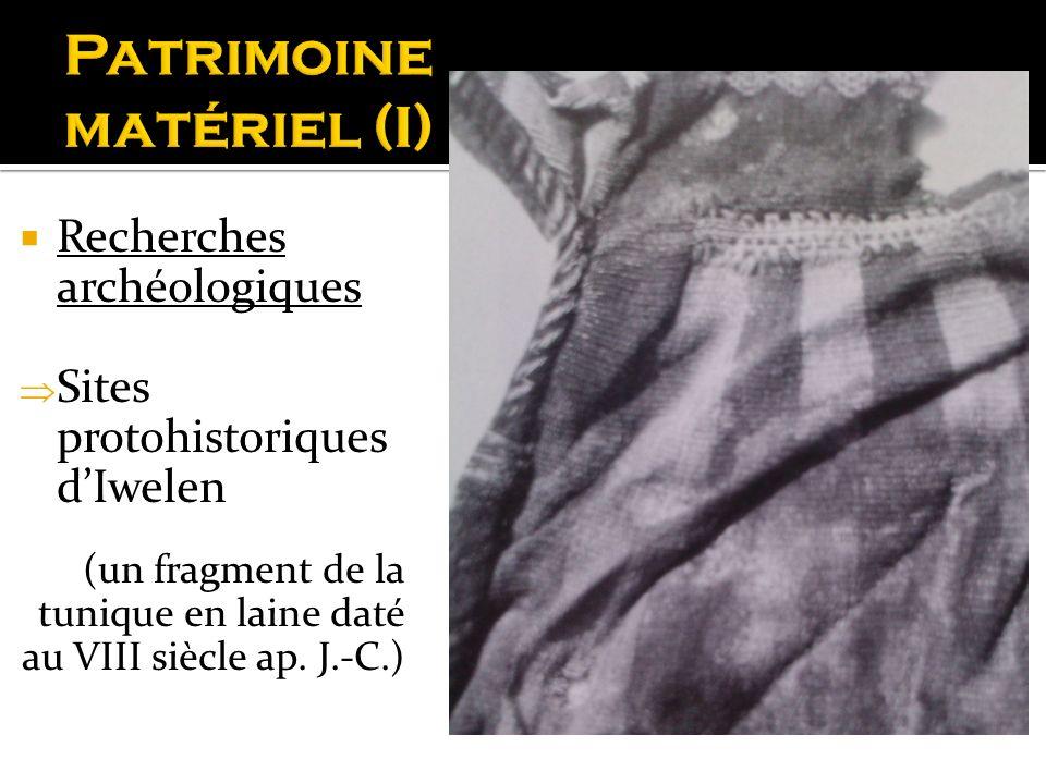 Patrimoine matériel (I)