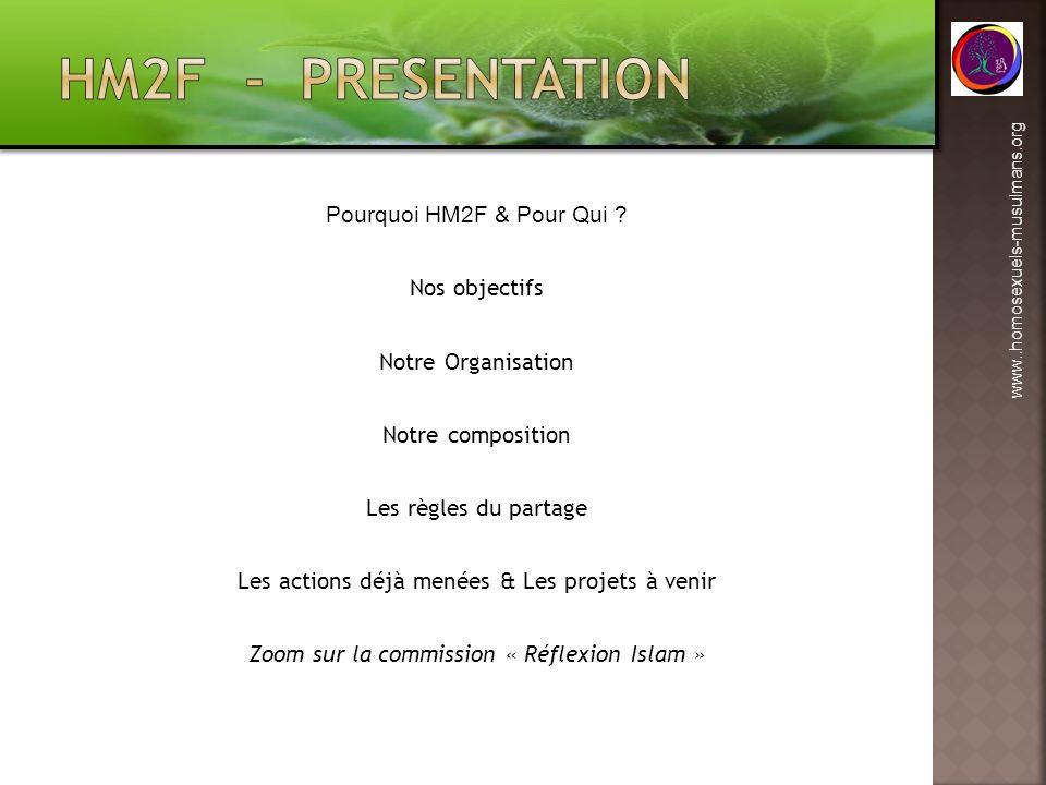 HM2F - PRESENTATION Pourquoi HM2F & Pour Qui Nos objectifs