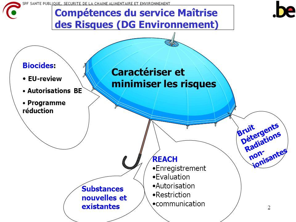 Compétences du service Maîtrise des Risques (DG Environnement)