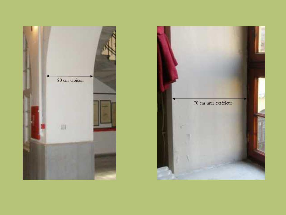 80 cm cloison 70 cm mur extérieur