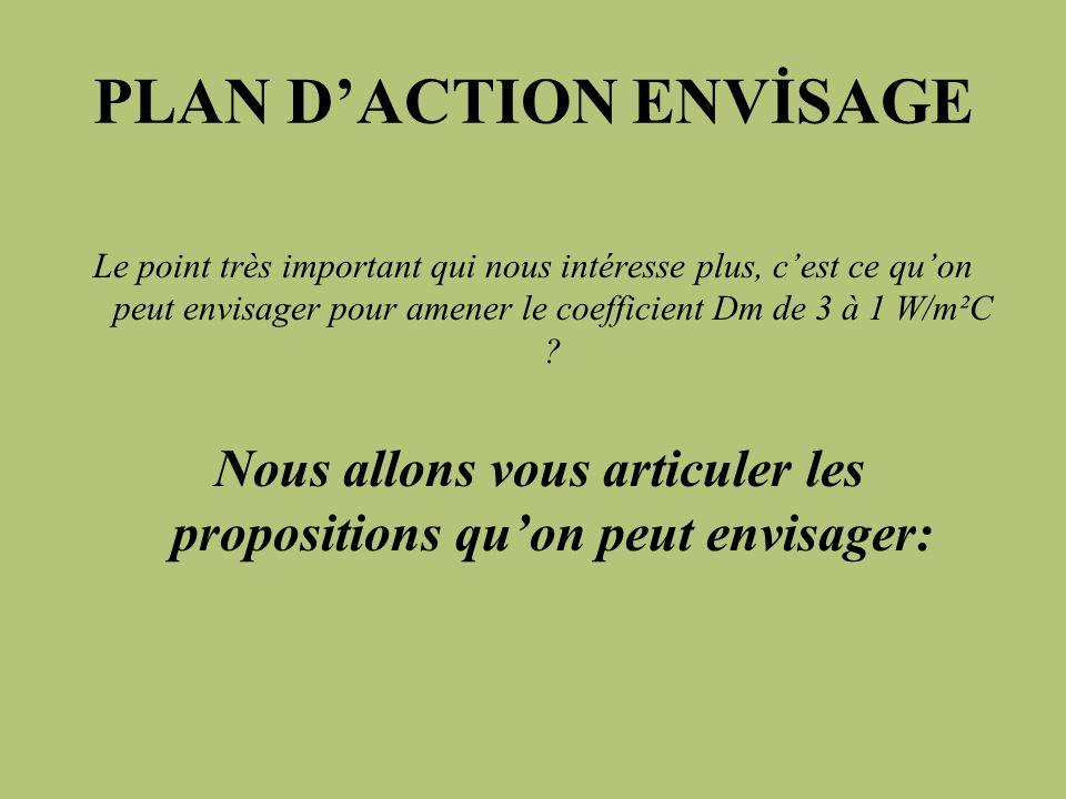 PLAN D'ACTION ENVİSAGE
