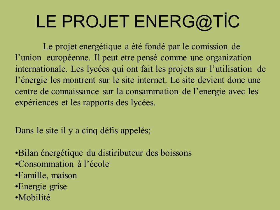 LE PROJET ENERG@TİC