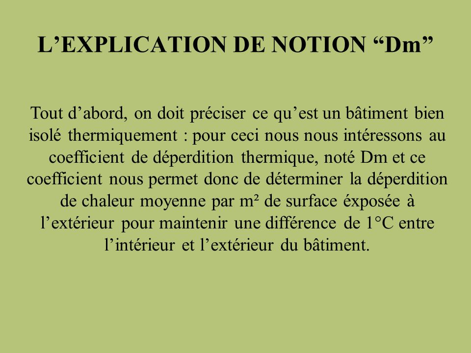 L'EXPLICATION DE NOTION Dm