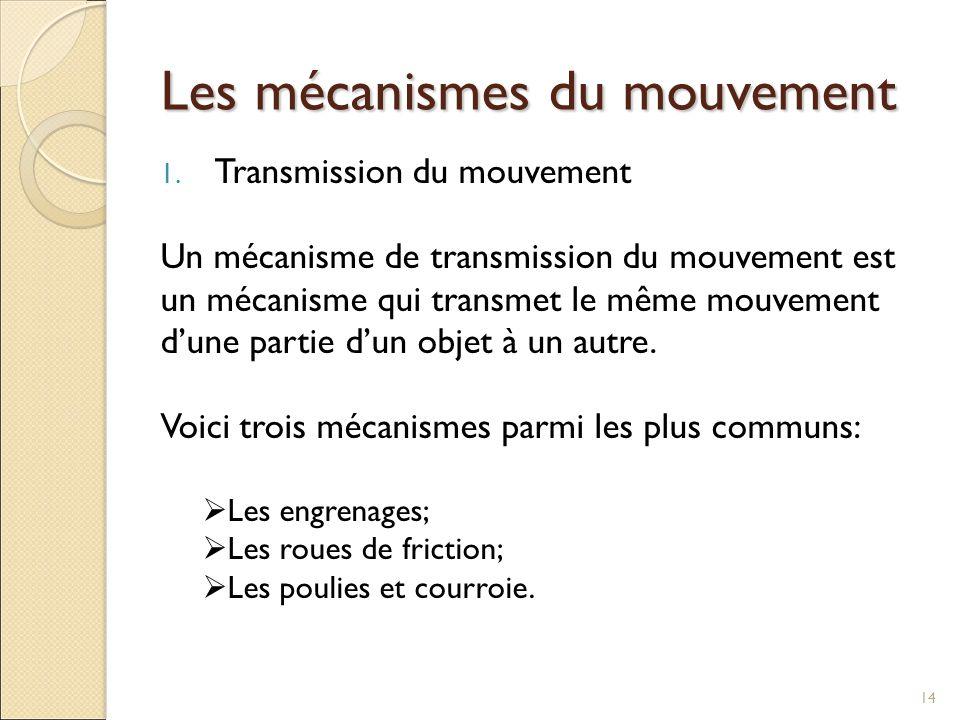 Les mécanismes du mouvement