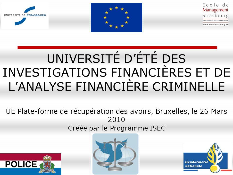 Créée par le Programme ISEC