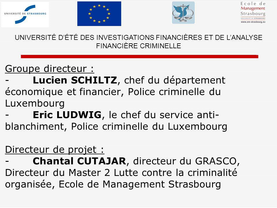 UNIVERSITÉ D'ÉTÉ DES INVESTIGATIONS FINANCIÈRES ET DE L'ANALYSE FINANCIÈRE CRIMINELLE