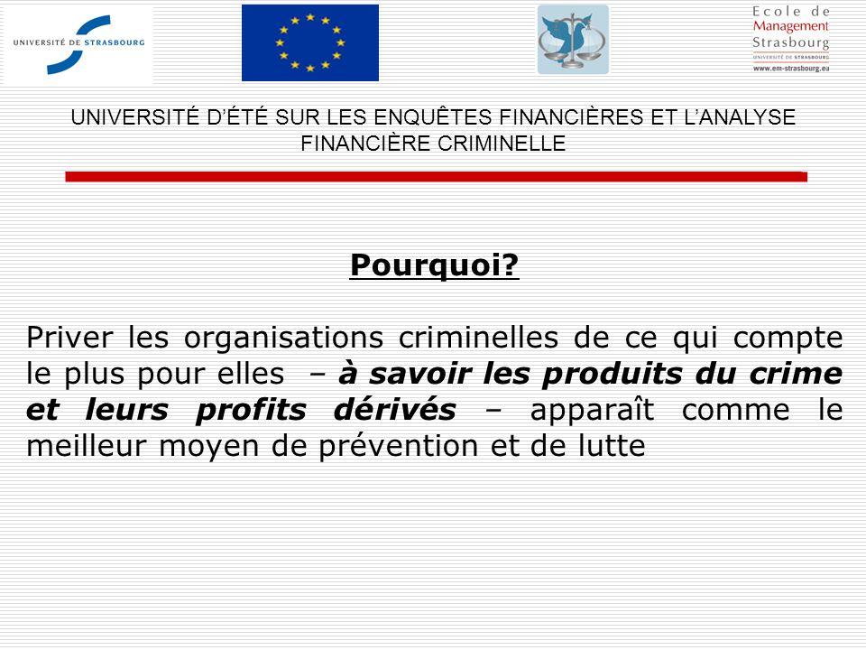UNIVERSITÉ D'ÉTÉ SUR LES ENQUÊTES FINANCIÈRES ET L'ANALYSE FINANCIÈRE CRIMINELLE