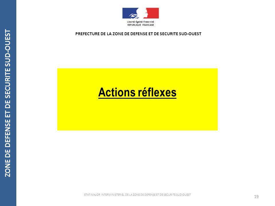 Actions réflexes ZONE DE DEFENSE ET DE SECURITE SUD-OUEST