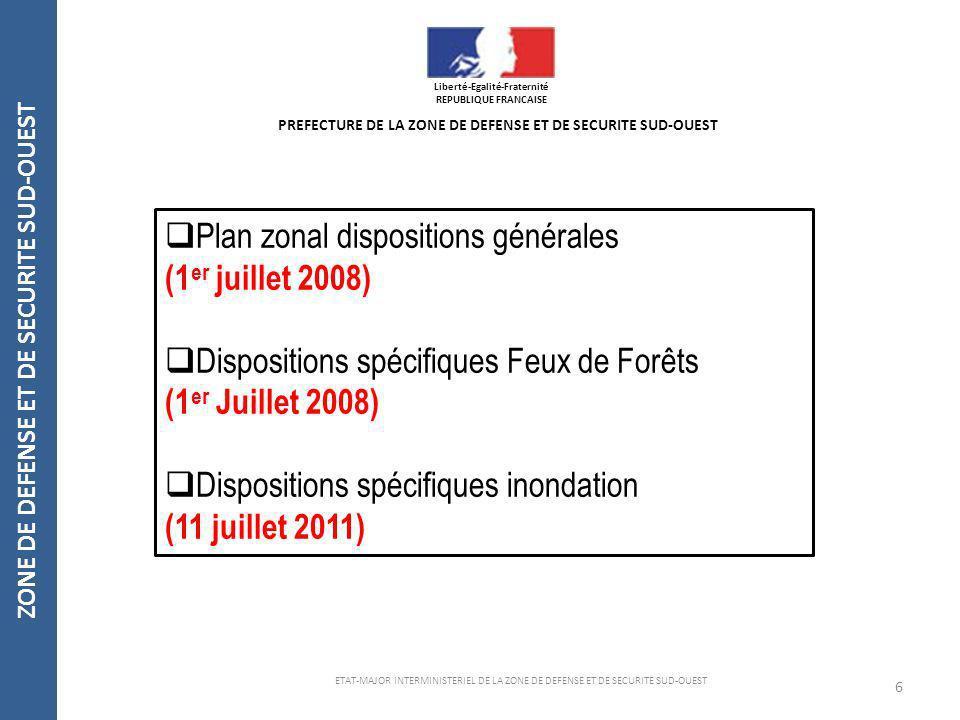 Plan zonal dispositions générales (1er juillet 2008)