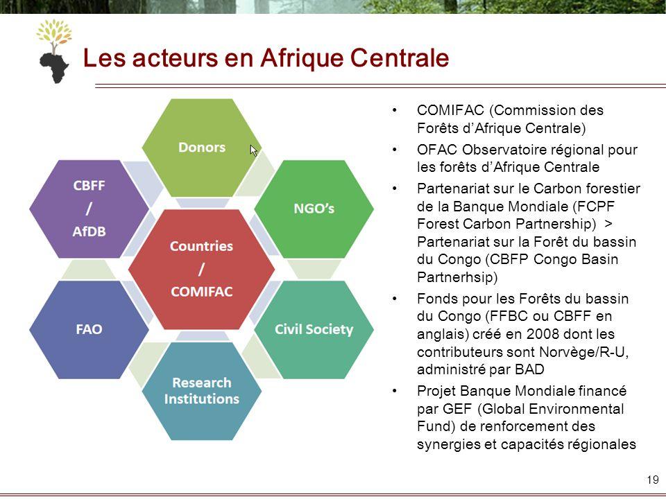Les acteurs en Afrique Centrale